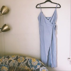 UO simple pastel wrap dress